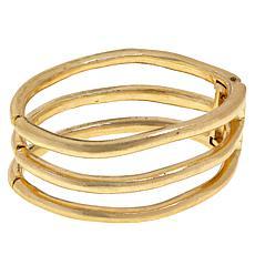 MarlaWynne Open Space Oval Hinged Cuff Bracelet