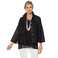 MarlaWynne Oversized Cotton Shirt Jacket