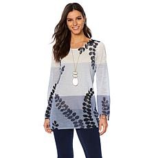 MarlaWynne Printed Lightweight Sweater with Cami