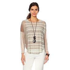 MarlaWynne Printed Mesh Top with Cami