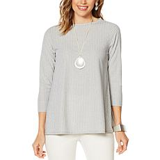 MarlaWynne Refined Rib Knit 3/4-Sleeve Top