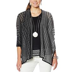 MarlaWynne Sheer Stitch Burnout Cardigan