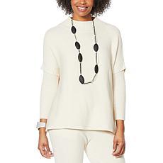 MarlaWynne SoftKNIT Turtleneck Poncho Sweater