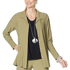 MarlaWynne Stretch Tech Shirt Jacket
