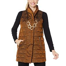 MarlaWynne Triangular Quilted Vest
