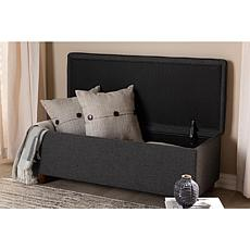Marlisa Fabric Upholstered Button Tufted Storage Ottoman Bench