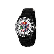 Marvel Avengers Kid's Time-Teacher Watch with Black Strap