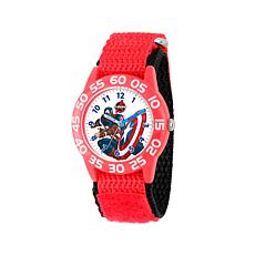Marvel Captain America Kid's Time-Teacher Watch with Red Strap