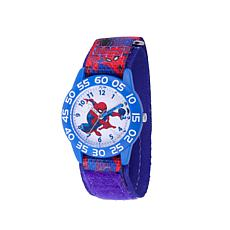 Marvel Spider Man Kid's Time-Teacher Watch with Spider Man Blue Strap