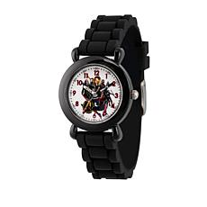 Marvel's Avengers Kid's Time-Teacher Black Strap Bracelet Watch