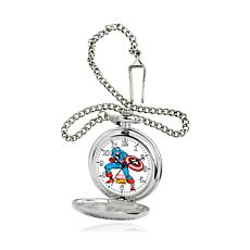 Marvel's Captain America Silvertone Pocket Watch
