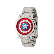 Marvel's Captain America Silvertone Strap Watch