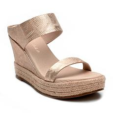 Matisse Flora Leather or Cow Hair Espadrille Wedge
