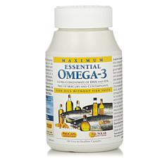 Maximum Essential Omega-3 - No Fishy Taste - Orange - 180 Capsules