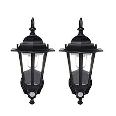 Maxsa Motion Activated Outdoor Led Wall Sconce 2 Pack