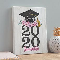 MBM Floral Graduation Cap with Year Personalized 8x10 Canvas