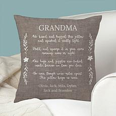 MBM Hugs and Giggles Personalized Throw Pillow