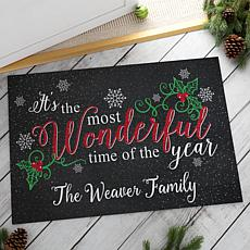 MBM It's The Most Wonderful Time Of The Year Personalized Doormat