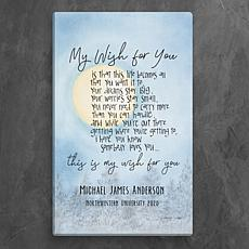 MBM My Wish For You Personalized 10x16 Canvas