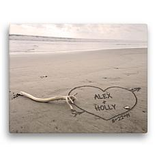 MBM Names In The Sand Personalized 11x14 Canvas