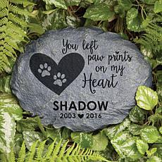 MBM Paw Prints On My Heart Personalized Garden Stone