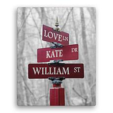 MBM Signs Of Love Personalized 11x14 Color Canvas
