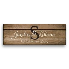 MBM The Happy Couple Personalized 9x27 Canvas