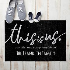 MBM This Is Us Personalized Black Doormat