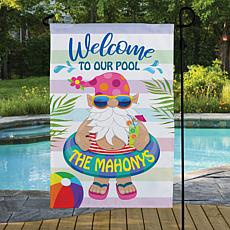MBM Welcome To Our Pool Floating Gnome Garden Flag