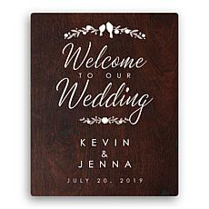 MBM Welcome to Our Wedding 16x20 Canvas