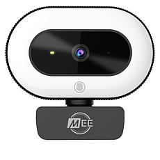 MEE Audio 1080p USB Live Webcam with Built-In LED Ring Light