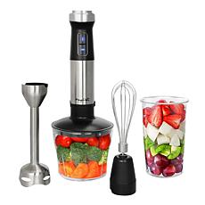 Megachef 4 in 1 Multipurpose Immersion Hand Blender With Speed Cont...