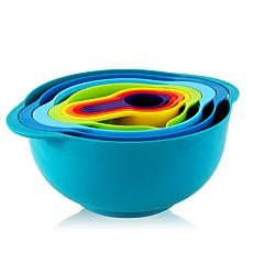 MegaChef's Multipurpose Stackable Mixing Bowl and Measuring Cup Set