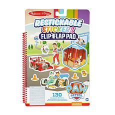 Melissa & Doug Paw Patrol Restickable Stickers Flip-Flap Pad -Missions