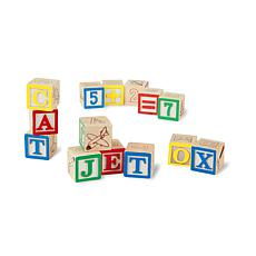Melissa & Doug Wooden ABC/123 Blocks