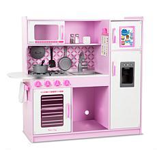 Melissa & Doug Wooden Chef's Pretend Play Toy Kitchen – Pink/White