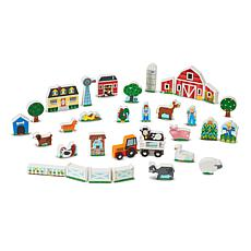 Melissa & Doug Wooden Farm and Tractor Play