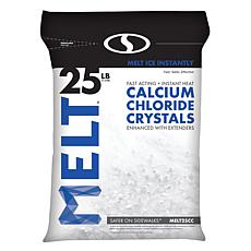 MELT 25-pound Resealable Bag Calcium Chloride Crystals Ice Melter