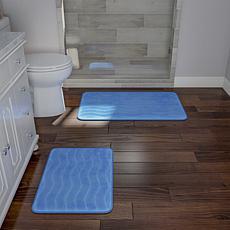 Memory Foam 2-piece Bath Mat Set - Blue