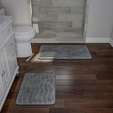 Memory Foam 2-piece Bath Mat Set - Platinum