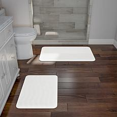 Memory Foam 2-piece Bath Mat Set - White