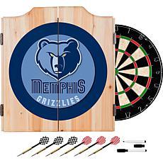 Memphis Grizzlies NBA Wood Dart Cabinet Set