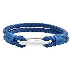 Men's Braided Leather 2-Strand Bracelet