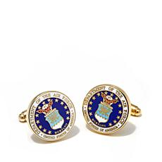 Men's Goldtone U.S. Air Force Military Seal Cuff Links