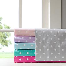 Mi Zone Polka Dot Cotton Sheet Set - Pink - Full