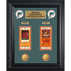 Miami Dolphins Framed Super Bowl Ticket and Coin
