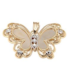 Michael Anthony™ 10K Gold 2-Tone Butterfly Pendant