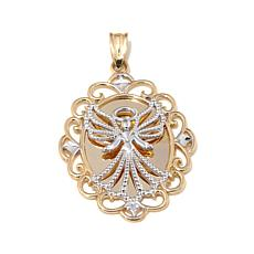 Michael Anthony™ 10K Gold 2-Tone Guardian Angel Pendant