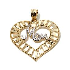 Michael Anthony® 10K Gold 2-Tone Mom Heart Pendant