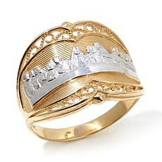 "Michael Anthony® 10K Gold ""Last Supper"" 2-Tone Ring"
